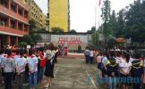 东坡区象耳小学举行2017年秋季开学典礼