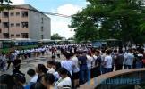 仁寿县龙正高中高三学子斗志昂扬 奔赴高考战场