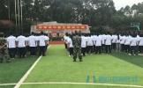 东坡区思蒙高中举行2020届新生军训活动