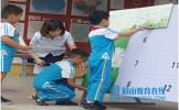 仁寿县城北小学开展环境保护进校园活动
