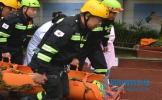 东坡区松江中学开展防灾减灾应急疏散救援救治演练活动