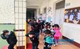 东坡区广济小学附设幼儿园举行防震减灾疏散演练活动