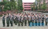 东坡区松江中学开展2019级新生军训活动